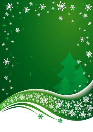 Green Christmas background. EPS8 vector.