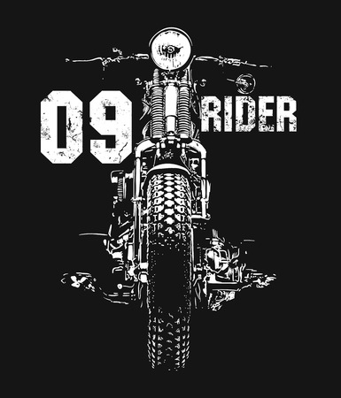 Illustration pour Vintage Motorcycle hand drawn vector t-shirt design - image libre de droit