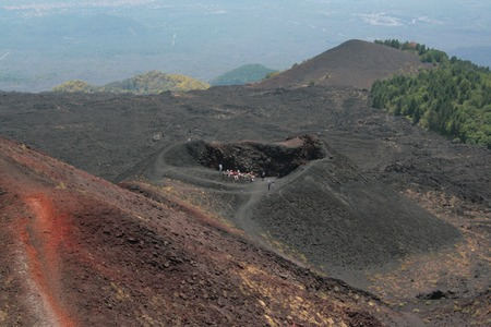 One of the lower crater of the Mount Etna in Sicily