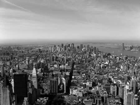 Black And White New York City Skyline
