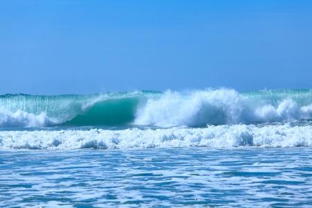 Atlentic ocean waves near Biarritz, France