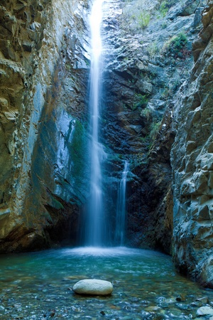 Photo pour Chantara Waterfalls in Trodos mountains, Cyprus - image libre de droit