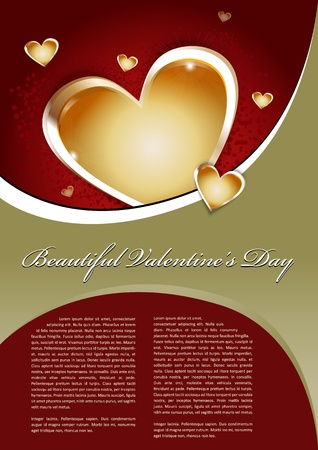 Beautiful Valentines Day Background With heart