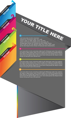 Abstract brochure design with bookmarks for four texts