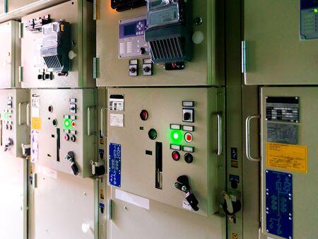 Foto für Cabinet for power and distribution electricity. Uninterrupted, electrical voltage. Automatic power cells. - Lizenzfreies Bild