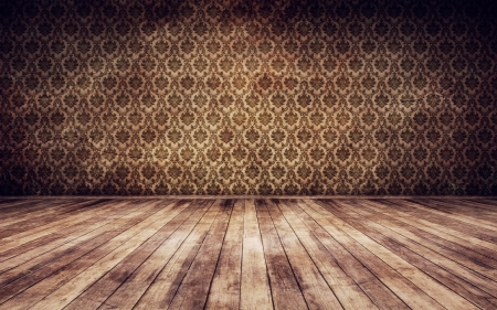 Grunge vintage interior background 3d render