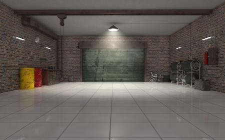 Photo pour Auto Repair garage interior 3d render - image libre de droit