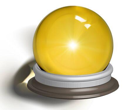 vectorial illustration of a magic crystal ball