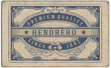 Illustration pour Retro label with cracked texture - image libre de droit