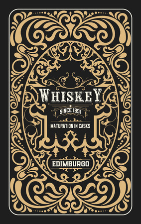 Illustration for Vintage design for labels. Suitable for whiskey or other comercial products - Royalty Free Image