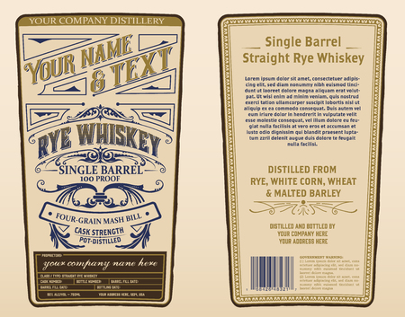 Illustration pour Whiskey label for packing. Vector layered - image libre de droit