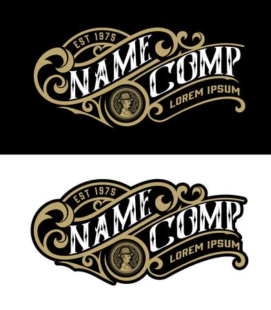 Illustration pour Vintage logo template. Vector layered - image libre de droit
