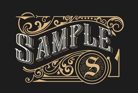 Illustration pour Vintage Luxury Logo Template Design for Label, Frame, Product Tags. Retro Emblem Design. Vector illustration - image libre de droit