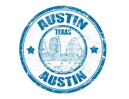 Grunge rubber stamp with Town Lake and the word Austin, Texas inside, vector illustration