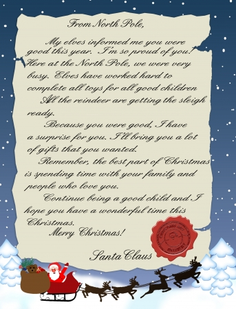 illustration of a letter from Santa Claus