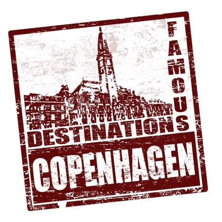 Grunge rubber stamp with the word Copenhagen written inside, vector illustration