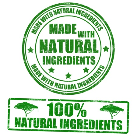 Made with natural ingredients grunge rubber stamps