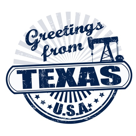Grunge rubber stamp with text Greetings from Texas , vector illustration