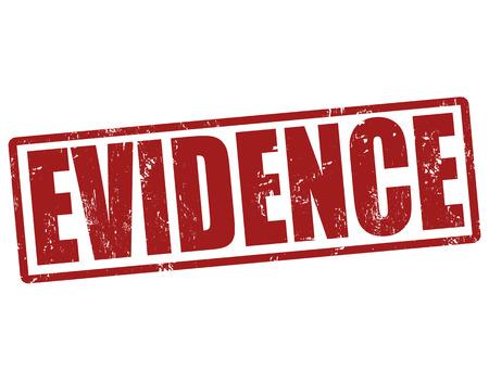 Evidence grunge rubber stamp on white, vector illustration