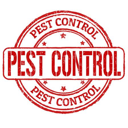 Pest control grunge rubber stamp on white, illustration