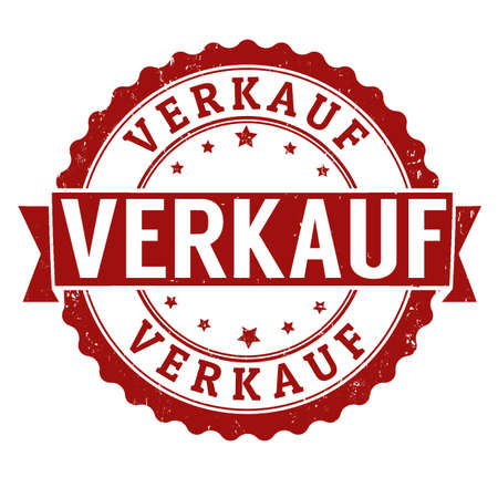 Sale in german language ( Verkauf ) grunge rubber stamp on white, vector illustration