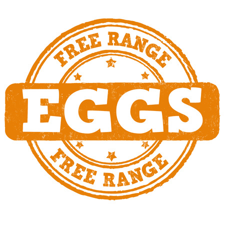 Free range grunge rubber stamp on white background, vector illustration