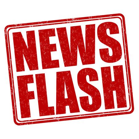 News flash grunge rubber stamp on white background, vector illustration