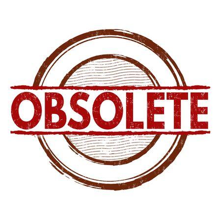 Illustration for Obsolete grunge rubber stamp on white background, vector illustration - Royalty Free Image