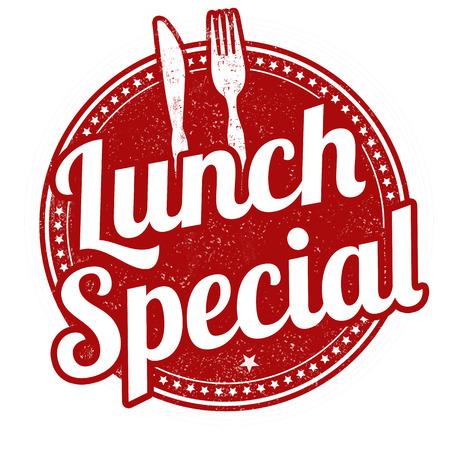 Vektor für Lunch special grunge rubber stamp on white background, illustration - Lizenzfreies Bild