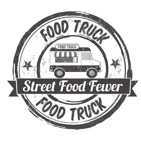 Illustration for Food truck grunge rubber stamp on white background, vector illustration - Royalty Free Image