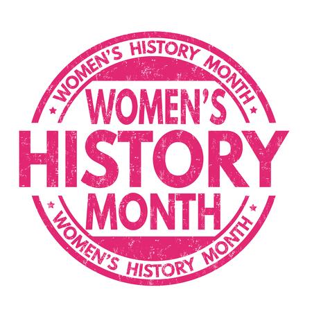 Illustration pour Women's history month grunge rubber stamp on white background, vector illustration - image libre de droit