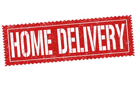Ilustración de Home delivery banner. - Imagen libre de derechos