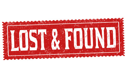 Illustration pour Lost and found grunge rubber stamp on white background, vector illustration - image libre de droit