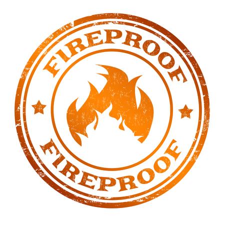Illustration pour Fireproof sign or stamp on white background, vector illustration - image libre de droit