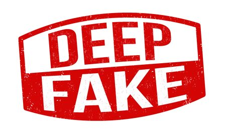 Deep fake sign or stamp on white background, vector illustration