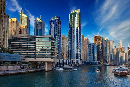Photo for Dubai Marina at sunset - Royalty Free Image