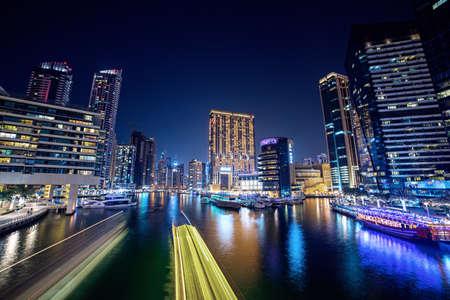 Foto für Dubai Marina at night - Lizenzfreies Bild