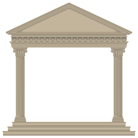 Roman/Greek Temple with Corinthian columns, high detailed