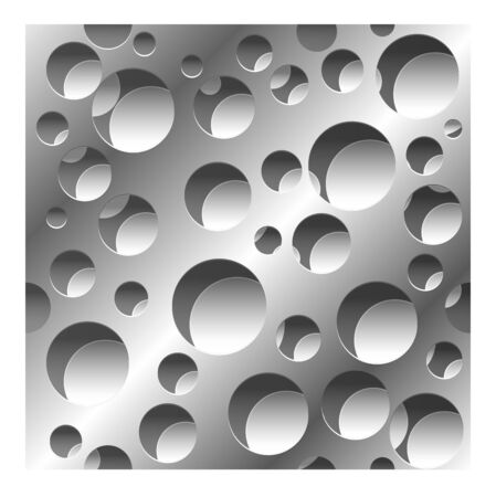 abstract perforated 3D seamless pattern background with shadows