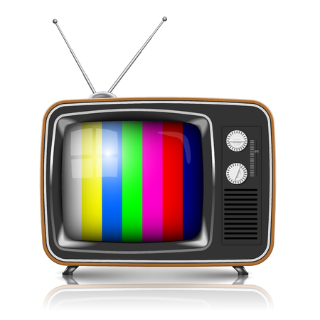 Illustration for Vector Retro TV with color frame - Royalty Free Image
