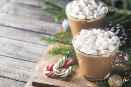 Photo for Cocoa with marshmallow - Royalty Free Image