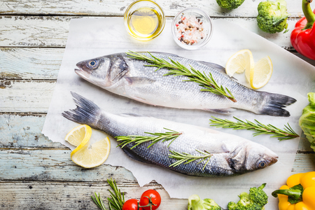 Photo for Fresh raw seabass - Royalty Free Image