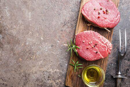 Photo pour Raw marbled meat steak - image libre de droit
