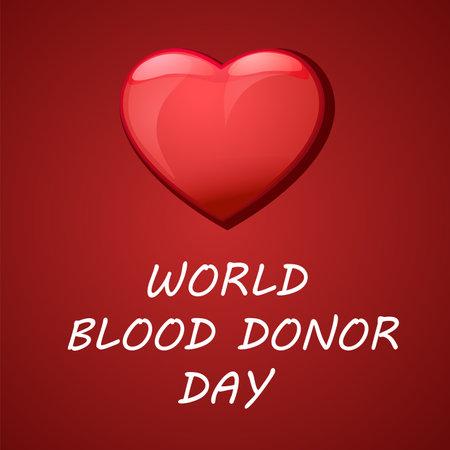 Illustration pour World blood donor day card Vect ill - image libre de droit