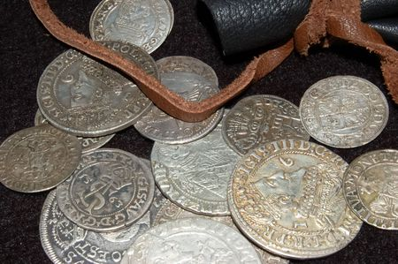 old silver coins from different times