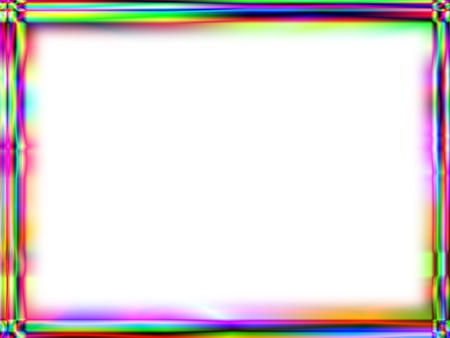 Unique rainbow gradient frame with white empty space for text