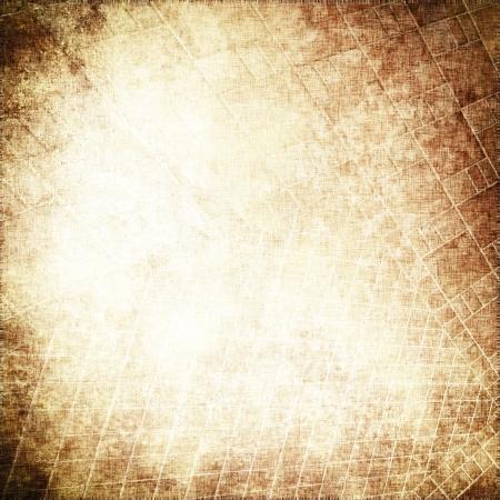 Photo pour grunge parchment background with delicate grid pattern texture - image libre de droit