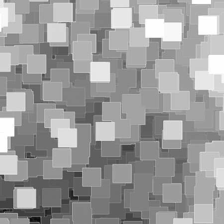 black and white mosaic tiles background or texture, pieces of paper