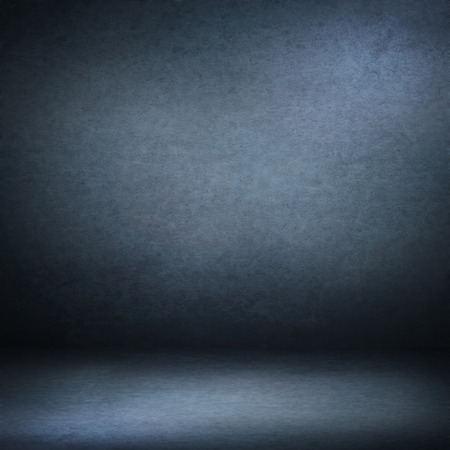Photo for navy blue suede background and beam of lights, empty room as grunge background texture - Royalty Free Image