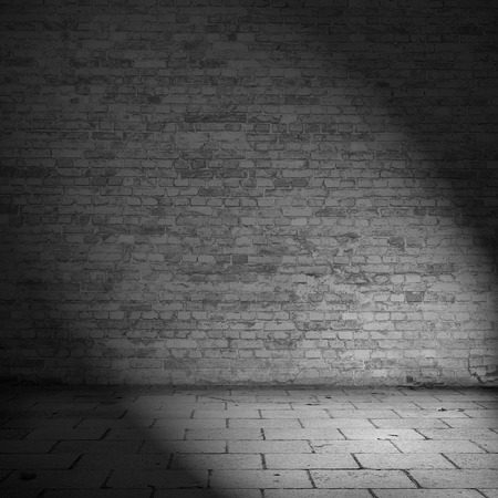 brick wall texture background abandoned house interior black and white illustration